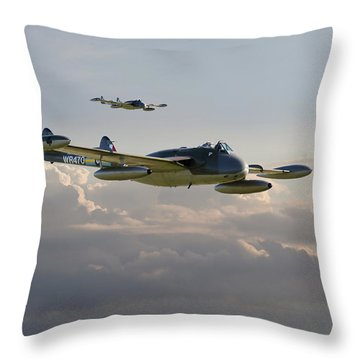 Throw Pillow featuring the photograph  Dh112 - Venom by Pat Speirs