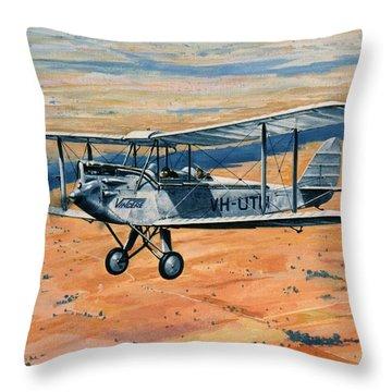 'dh60g Barn Storming - Nancy Bird Walton' Throw Pillow