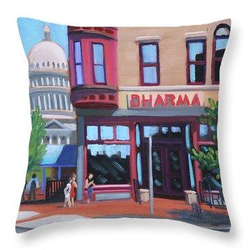 Dharma Building - Boise Throw Pillow