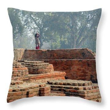 Dharma Chakra Jinavihara 02 Throw Pillow