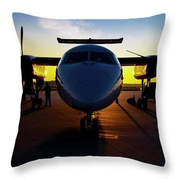 Dhc-8-300 Refueling Throw Pillow
