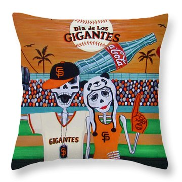 Dia De Los Gigantes Throw Pillow