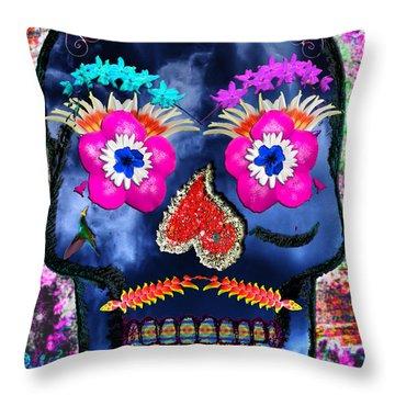 Dia De Los Muertos Throw Pillow by Dolly Sanchez