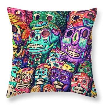 Dia De Los Muertos Sugar Skulls Throw Pillow