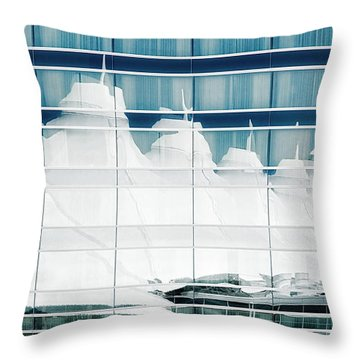 Throw Pillow featuring the photograph Dia Hotel Reflection by Joe Bonita