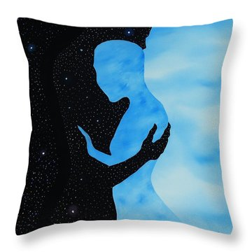 Dia Y Noche Throw Pillow