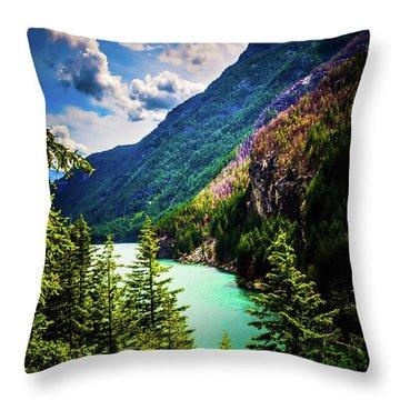 Diablo Lake Throw Pillow