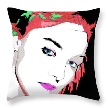 Throw Pillow featuring the painting Diablo by Tbone Oliver