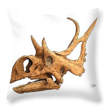 Diabloceratops Throw Pillow