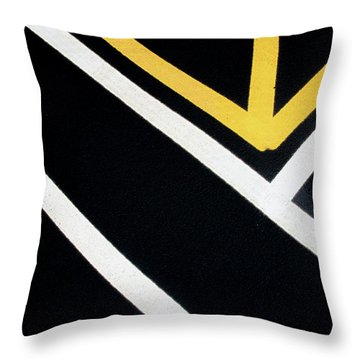 Throw Pillow featuring the photograph Diagonal Path Traffic Lines by Gary Slawsky