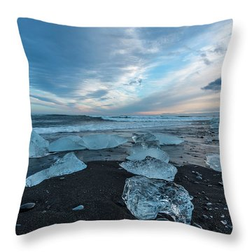 Diamond Beach Sunset  Throw Pillow