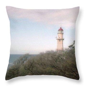 Diamond Head Light House Throw Pillow