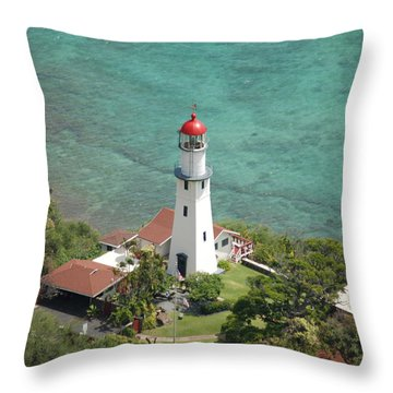 Diamond Head Lighthouse 2 Throw Pillow