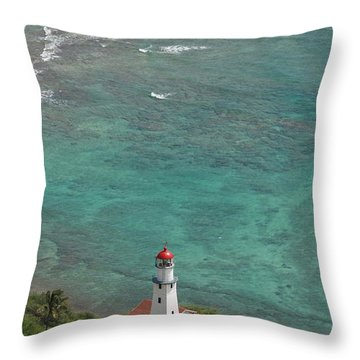 Diamond Head Lighthouse 3 Throw Pillow