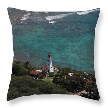 Diamond Head Lighthouse I Throw Pillow