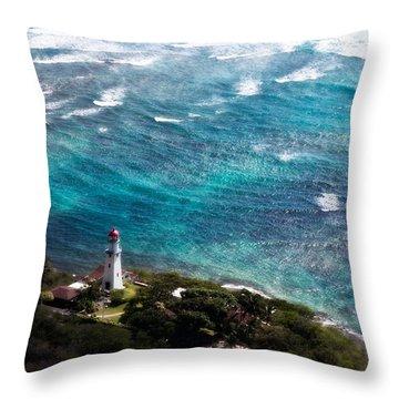 Diamond Head Lighthouse Throw Pillow