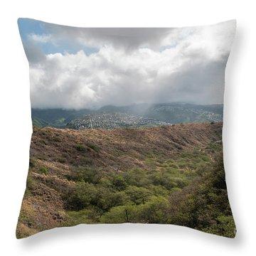 Diamond Head View Throw Pillow