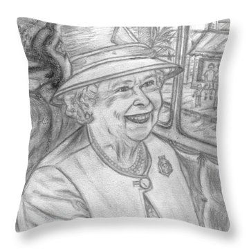 Throw Pillow featuring the drawing Diamond Jubilee by Teresa White