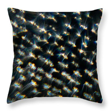 Throw Pillow featuring the photograph Diamond Lights by Greg Collins