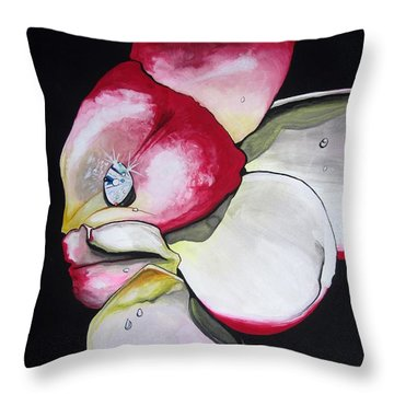 Throw Pillow featuring the painting Diamond by Mary Ellen Frazee