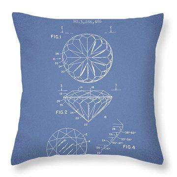 Diamond Patent From 1966- Light Blue Throw Pillow