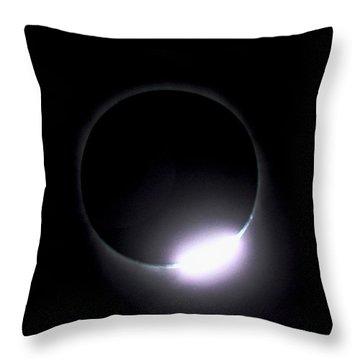 Diamond Ring During Solar Eclipse Throw Pillow