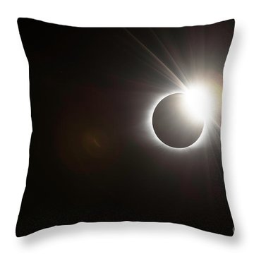 Diamond Ring Throw Pillow