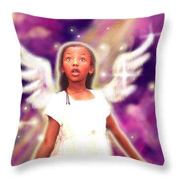 Diamond.angelic 3 Throw Pillow by Nada Meeks