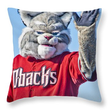 Diamondbacks Mascot Baxter Throw Pillow