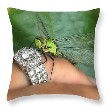 Diamonds Are A Dragonflies Best Friend Throw Pillow