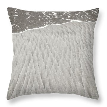 Diamonds In Its Wake Throw Pillow by Colleen Williams