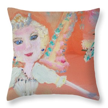 Diana Fairy Charity Throw Pillow by Judith Desrosiers