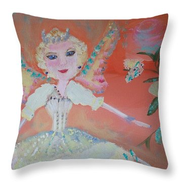 Diana Healing Fairy Throw Pillow by Judith Desrosiers