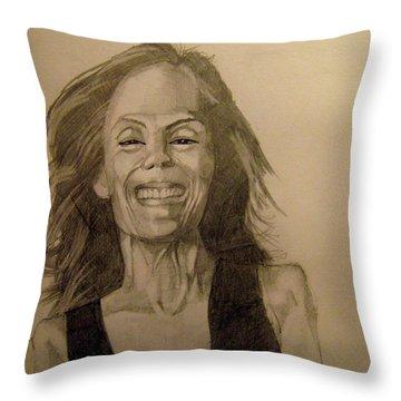 Diana Throw Pillow by Ray Agius