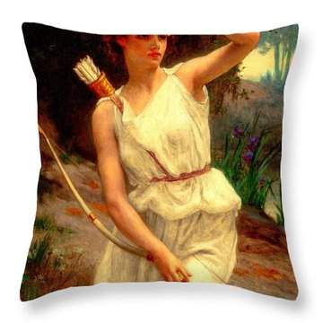 Diana The Huntress Guillaume Seignac  Throw Pillow