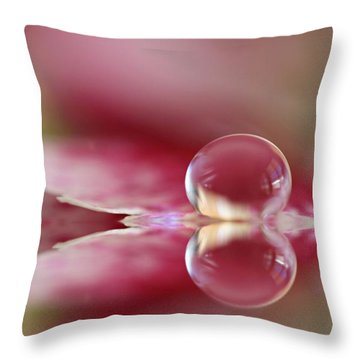 Dianthus Dreaming Throw Pillow