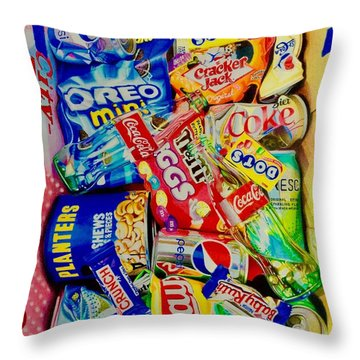 Dibs On The Baby Ruth Throw Pillow
