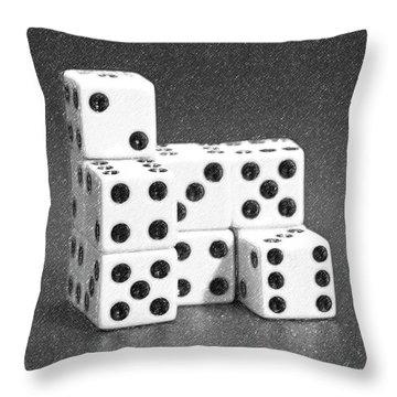 Dice Cubes I Throw Pillow by Tom Mc Nemar