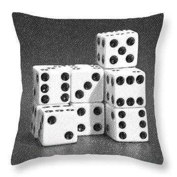 Dice Cubes IIi Throw Pillow by Tom Mc Nemar
