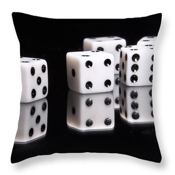 Dice II Throw Pillow by Tom Mc Nemar