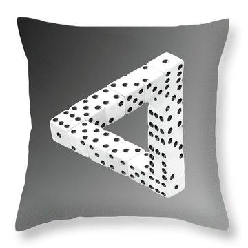 Dice Illusion Throw Pillow