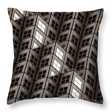 Dices Noir Throw Pillow