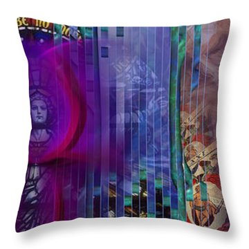 Throw Pillow featuring the digital art Dichotomy I by Kenneth Armand Johnson