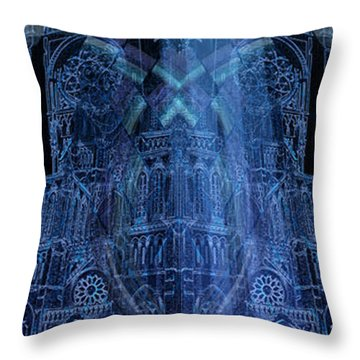 Throw Pillow featuring the digital art Dichotomy II by Kenneth Armand Johnson