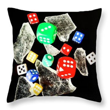Dicing With Chance Throw Pillow