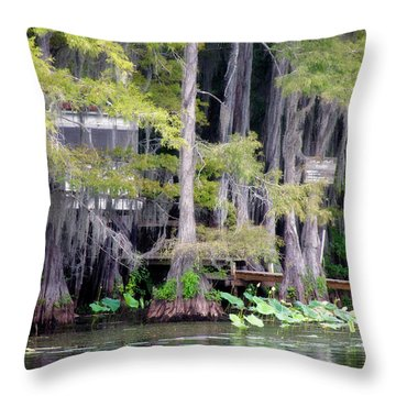 Dick And Charlies Tea Room Throw Pillow by Lana Trussell