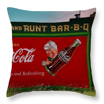 Dick And Runt Bbq Throw Pillow