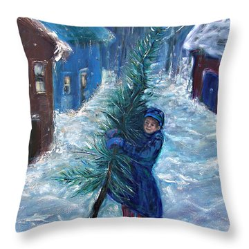 Dicken's Tale Throw Pillow