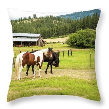 Did You Say Something? Throw Pillow