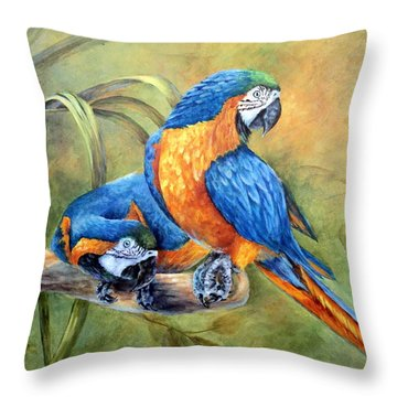 Throw Pillow featuring the painting Did You See That by Mary McCullah